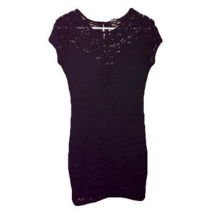 Poof! Black All Over Lace Mini Dress